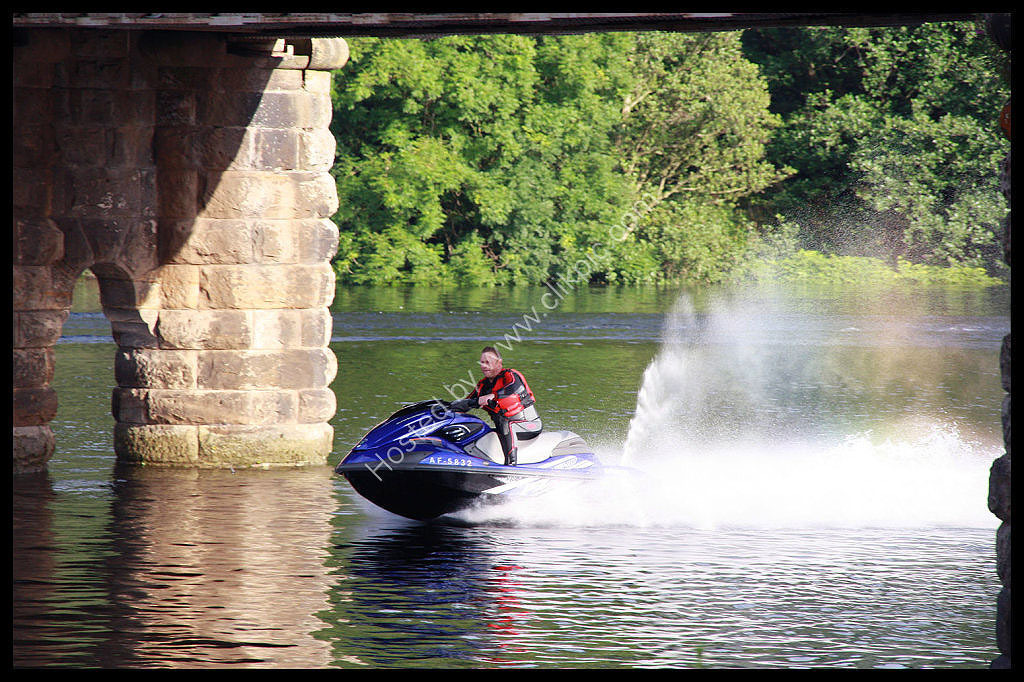Jet Ski speed on the river Tay at Perth