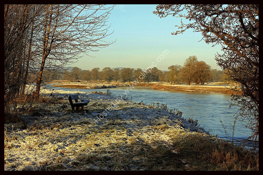 Frosty Scene by the River Tay