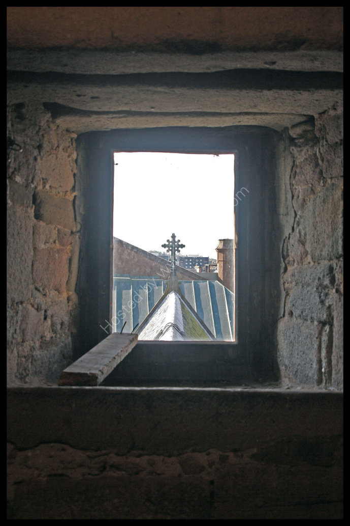 A view of Perth from a window in the tower of St Johns Kirk