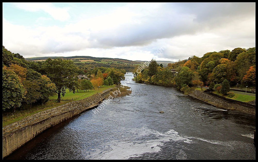 View of the River Tummel from the Pitlochry Dam