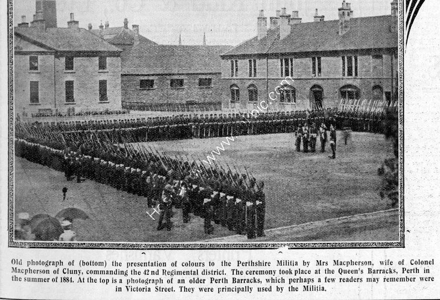 Perth Barracks Presentation of Colours 1884