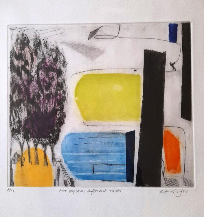 Rachel Grigor Five Poplars Different Times