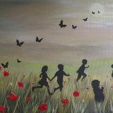 Grandchildren in the poppy field