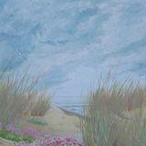 125-Sand Dunes and Sea-Pinks.JPG