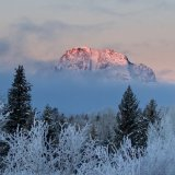 Teton Peak At Sunrise