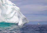 Iceberg Dwarfing Ship