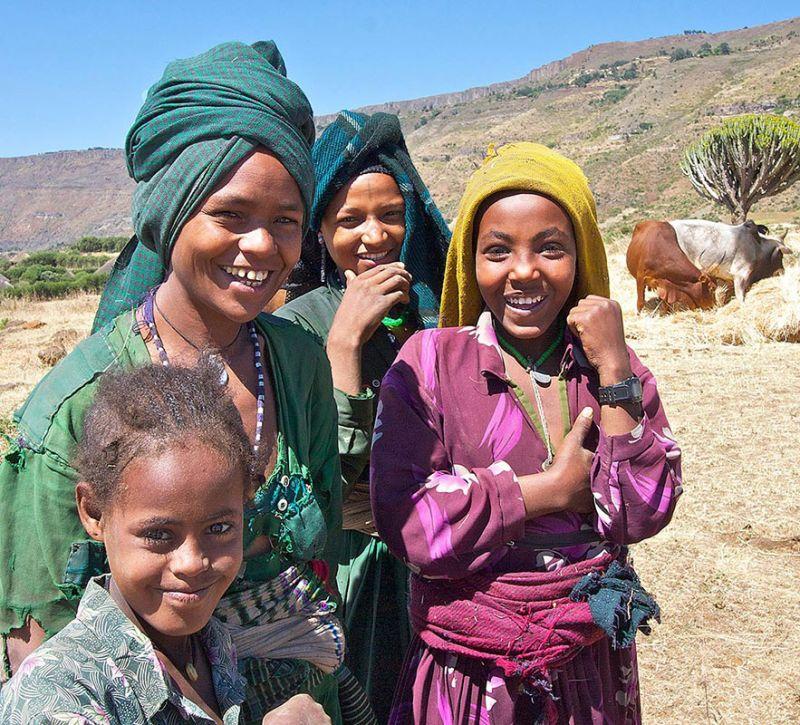 Ethiopian Village Girls