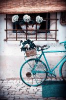 Bicycle blue