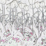 Solarised flowers 1