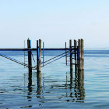 Jetty in blue