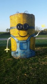 Minion Straw Bale Sculpture 4