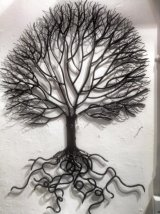 Metal Tree Wall Hanging With Roots