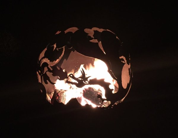 'The Dragon Fire Pit' by night