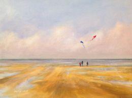 Kites Climbing Cobalt Clouds