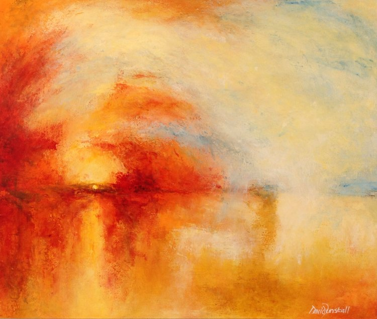 Chasing Turner - Sun Setting Over a Lake