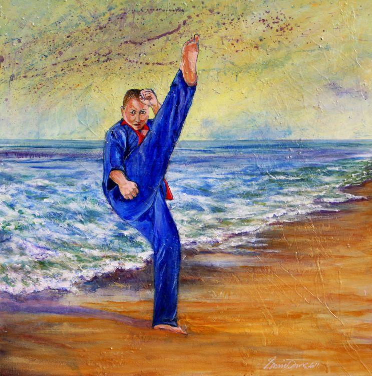 Taekwondo on the Beach