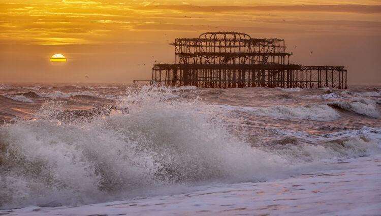 Brighton West Pier at Sunset