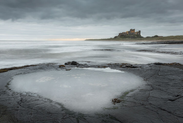 First Light at Bamburgh Castle, Northumberland
