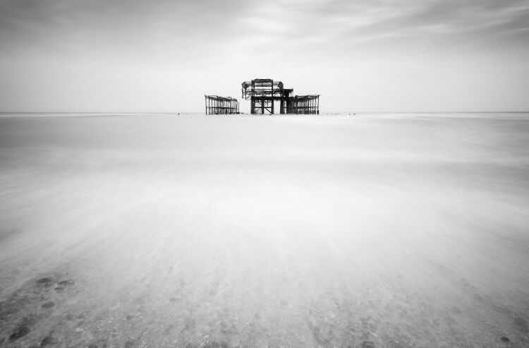 """Isolated"" Brighton West Pier"
