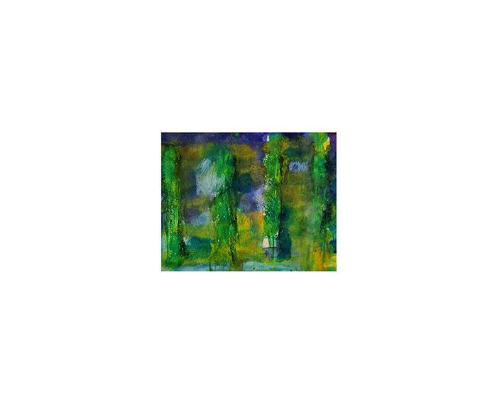 Landscape sketch III (poplars)