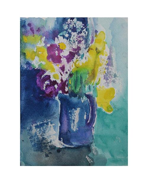 Flowers in blue jug II
