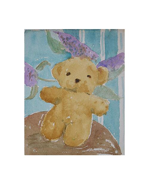 Teddy and buddleia