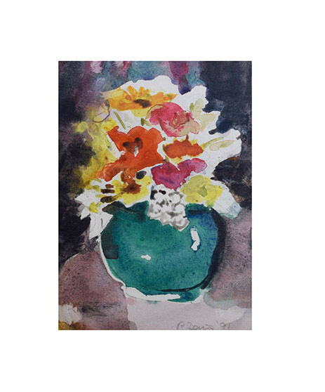 Still life with little green vase I