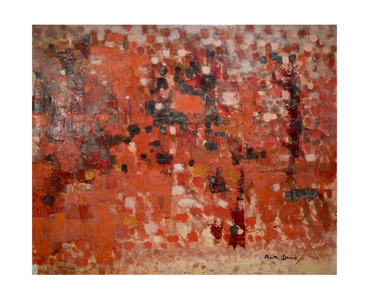 Red abstract landscape