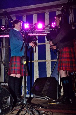 Playing in the Bells at Tain Street Party