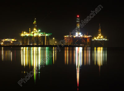 8. Oil Rigs at Night