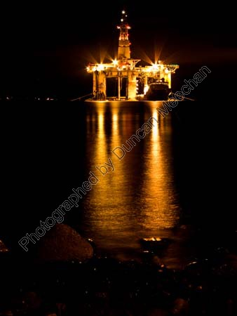 50. Oil Rigs Glow in the Dark