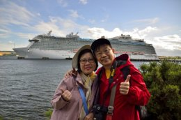 A nice couple who were visiting on this cruise ship today