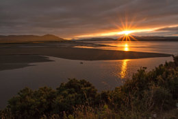 Sun setting on the Dornoch Firth