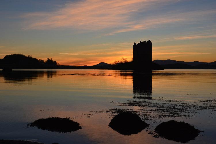 Castle Stalker at sunset