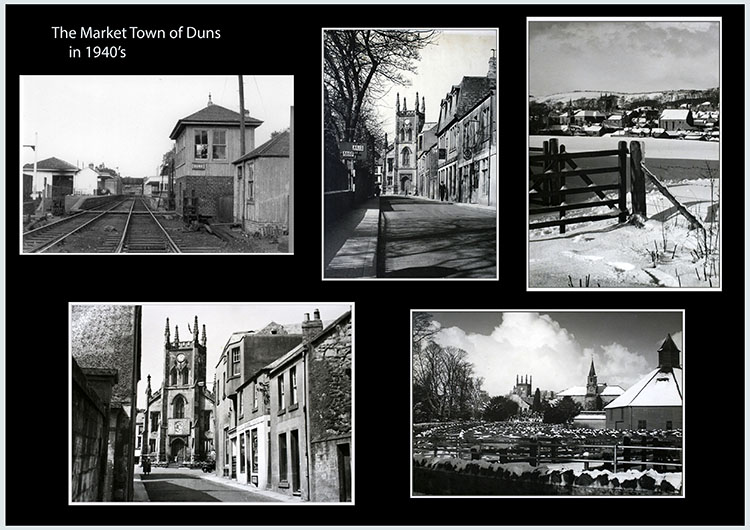 Duns - collage of old market town