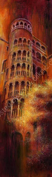 The Tower - acrylic on canvas