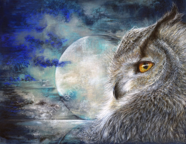Moonlight - coloured pencil