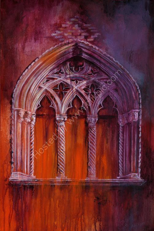 Secret Window - acrylic on canvas