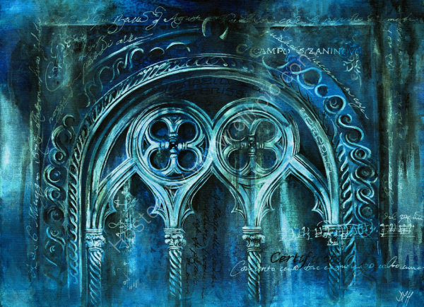 The City Sinks - acrylic on canvas