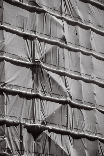 Shrouded Scaffolding, Building Site, City of London