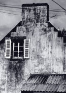 End wall of house, Douarnenez, Brittany, France