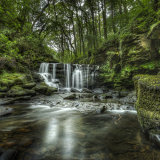 The Large Waterfall in Cwmdu