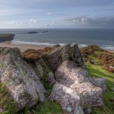 Worms Head from Rhossili Down