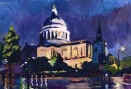 St Paul's Cathedral at Dusk (after rain)