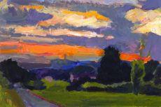 Towards Alexandra Palace at Sunset
