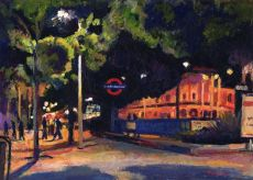 Bright lights at Seven Sisters Station, London