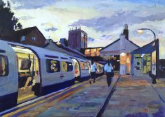 Evening Commuters at Boston Manor Station