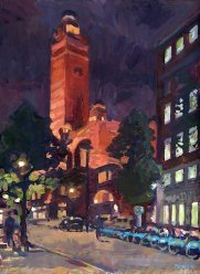 Westminster Cathedral with Lights