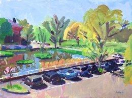 Kew Green in Spring Sunshine