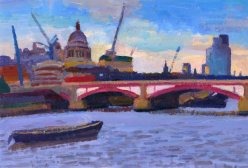 St Paul's & Blackfriars Bridge at Sunset III